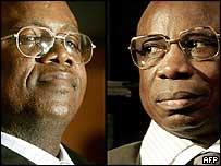 Samuel Ndashyikirwa (l) and Etienne Nzabonimana (r)