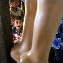 Iraqi boys in church
