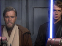 Ewan McGregor and Hayden Christensen