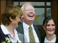 Jim Wallace and his wife Rosie (left) and daughter Helen (right)