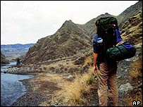 Backpacker in Idaho