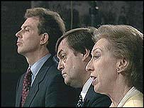 Tony Blair, John Prescott and Margaret Beckett