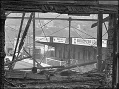 Burnt out stadium