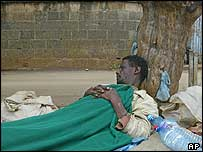 Homeless man in Addis Ababa