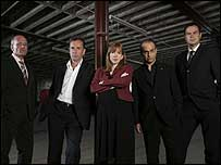 Peter Jones (on the right) with fellow Dragons Den entrepreneurs