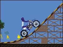 Screenshot from Nate Adams Freestyle Motocross, I-Play