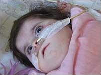 Charlotte Wyatt in her hospital cot