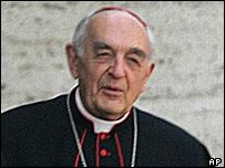 Vatican Radio president Cardinal Roberto Tucci