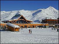 The ski resort of Tignes