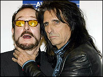 Steve Wright and Alice Cooper