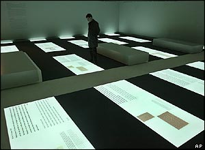 Information centre at Memorial to the Murdered Jews of Europe in Berlin