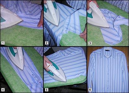 The correct way to iron a shirt