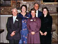 Katharina Dalton (second left)