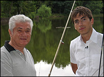 President Vladimir Voronin of Moldova with presenter Simon Reeve