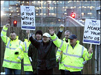 Picket line at Heathrow