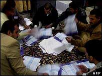 Ballot papers being counted