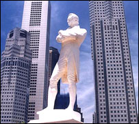 Statue of Britain's Sir Stamford Raffles, Singapore