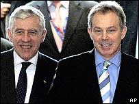 Jack Straw (left) and Tony Blair