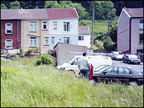 South View, Merthyr Vale - the house would have been where the white van is parked