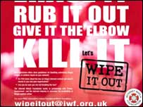 Leaflet from the Wipe it Out campaign