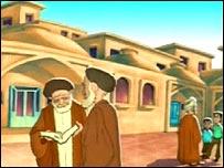 Dibujos iraníes de clérigos musulmanes.
