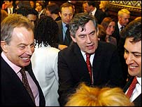 Tony Blair and Gordon Brown with new Labour MPs