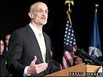 US Secretary of Homeland Security Michael Chertoff