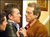 Alfie (Shane Richie) and Den (Leslie Grantham) in Eastenders