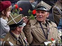 Polish veterans of World War II in Wroclaw, Poland, this week