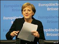 German Chancellor Angela Merkel at the summit in Brussels