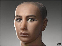 Model of Tutankhamun's face