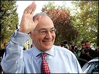 Michael Howard, pictured after announcing his intention to stand down