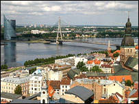 Skyline of Riga, 2005
