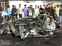 Scene from 11 May carbombing in Iraq