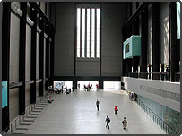 Interior of Tate Modern Art Gallery, London