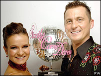 Darren Gough with dance partner Lilia Kopylova