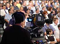 Cameraman in BBC studio