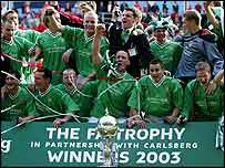Burscough were FA Trophy winners in 2003