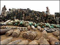 Weapons cache uncovered in Anbar province, Iraq (Photo supplied by US Marines)