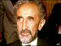 The late Emperor of Ethiopia, Haile Selassie