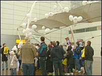 Glasgow Airport protest