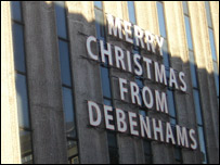 Debhams sign
