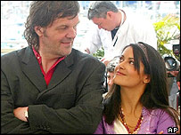 Emir Kusturica and Salma Hayek