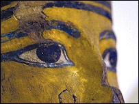 Egyptian mask, picture from Petrie Museum