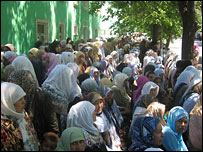 Female protesters in Andijan