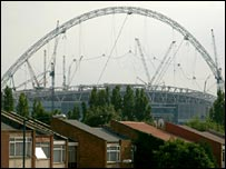 Arch at the new Wembley stadium