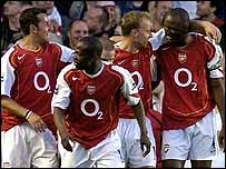 Edu, Lauren, Dennis Bergkamp and Patrick Vieira