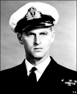 Prince Philip in Naval uniform