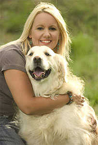 Oakley with owner Lisa Deadman