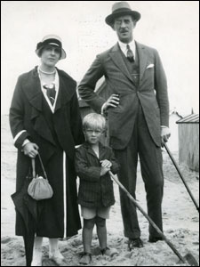 Prince Philip with his parents